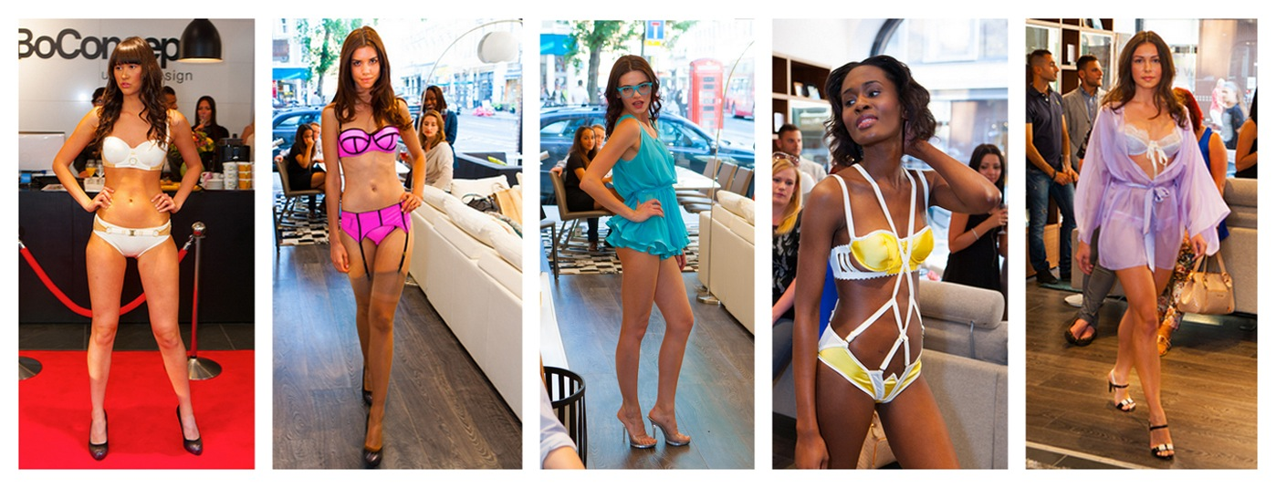 Models at the Dolci Follie swimwear & lingerie Summer Catwalk