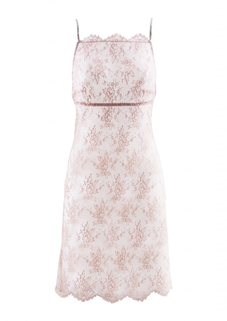 ID Sarrieri Poudre et Diamants pink chatilly lace midi dress f