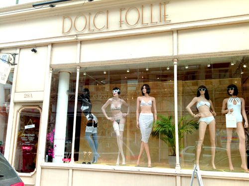 The Dolci Follie Boutique on Hereford Road, W2