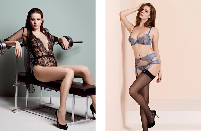 Idalia and Iana lace lingerie by L'agent by agent provocateur