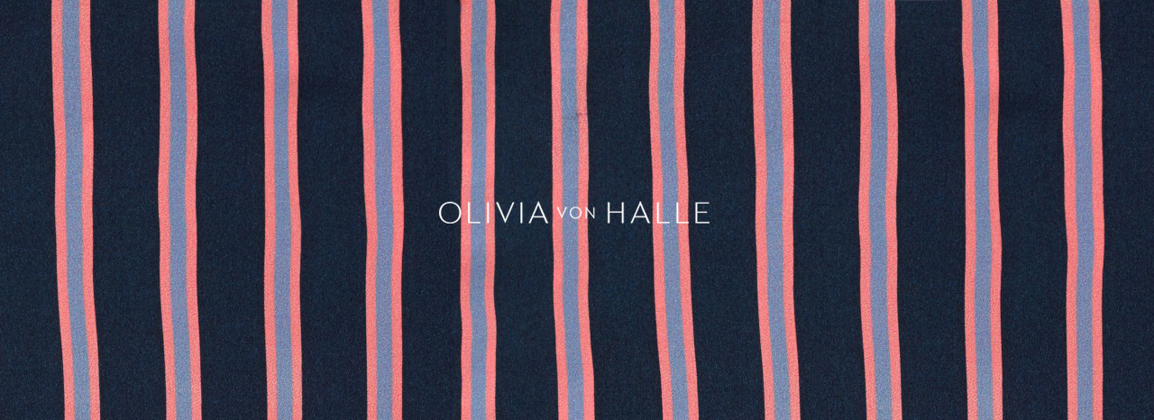 Olivia von Halle AW15 silk pyjamas at Dolci Follie