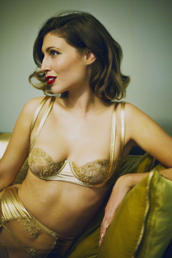 Loveday London Goddess Gold lingerie
