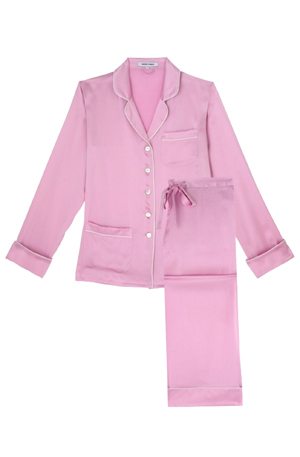 Coco bubblegum pink 100% silk pyjama at dolci follie